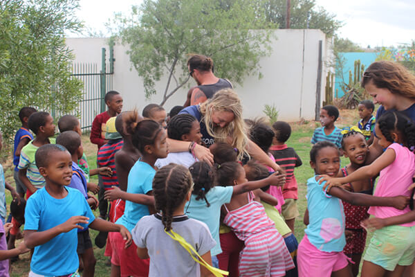 Volunteering with children in south africa