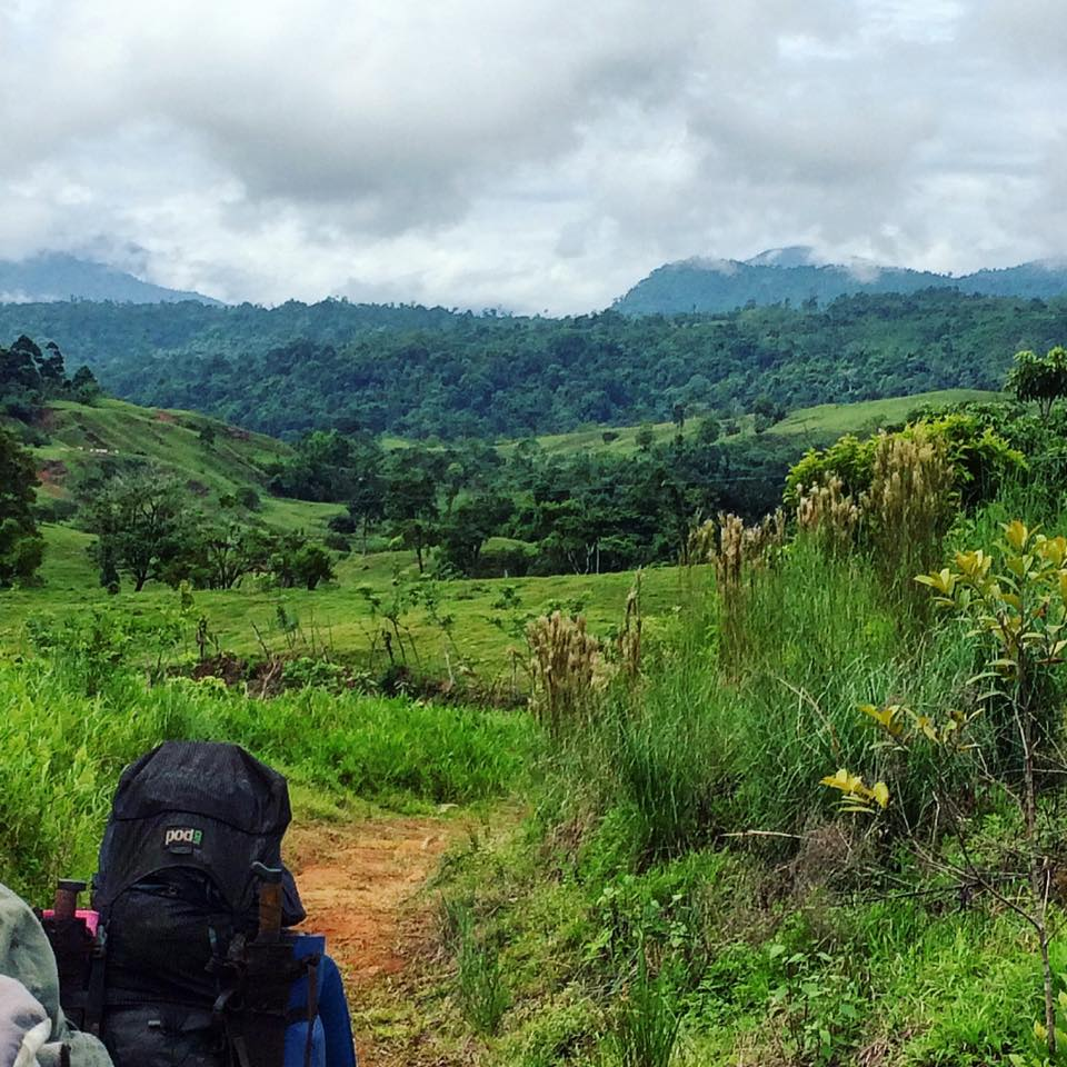 Trekking out of the jungle in costa rica