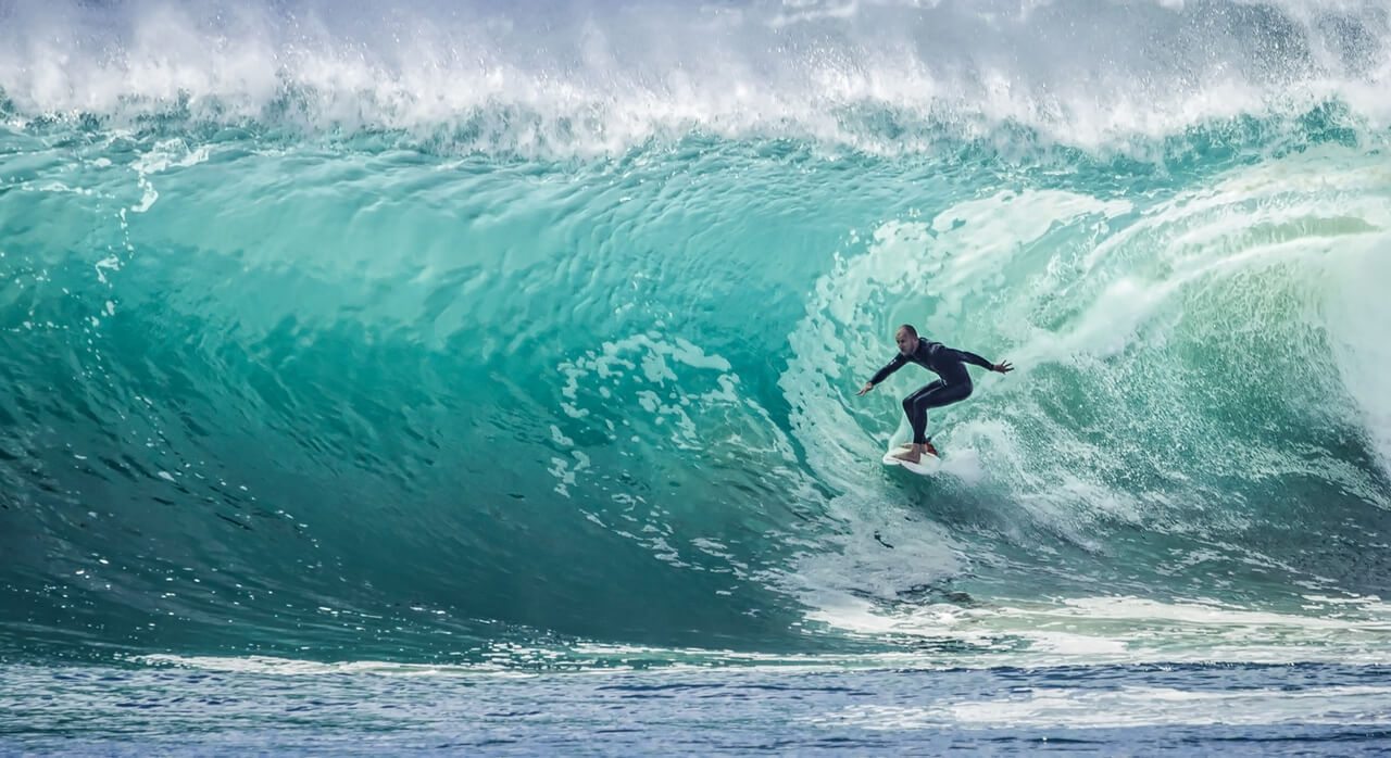 Surfing in south africa on gap year