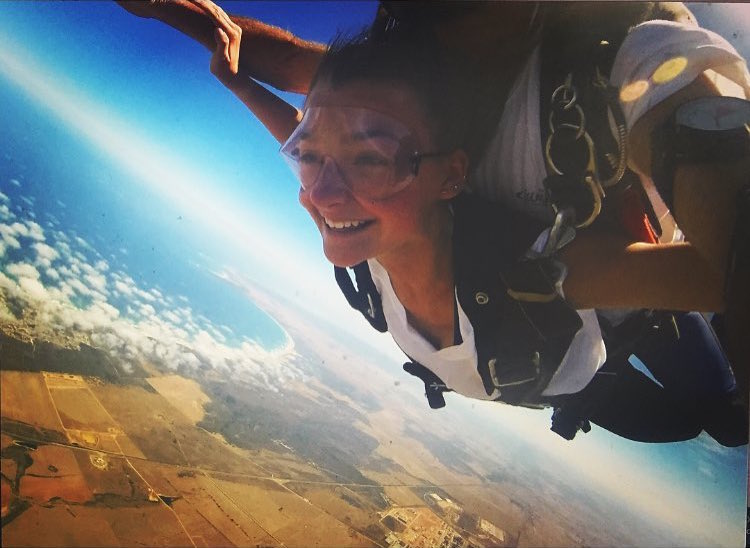 Skydiving in South Africa on a gap year